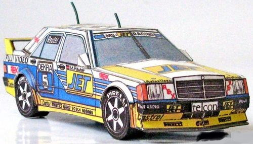 Papierový model Mercedes Benz 190 E 2.5-16 Evo 1 Team MS Jet Racing