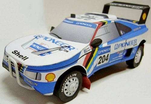 Papierový model Peugeot 405 turbo 16