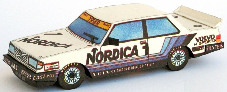 Papierový model Volvo 240 Turbo - Nordica 1