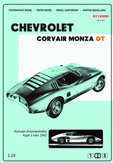 Papierový model - Chevrolet Corvair Monza GT