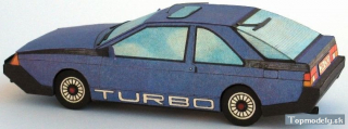 Papierový model Renault Fuego Turbo