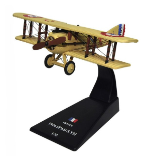 Kovový model - Spad S.VII France